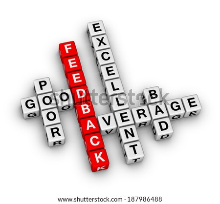 feedback form cubes crossword puzzle - stock photo