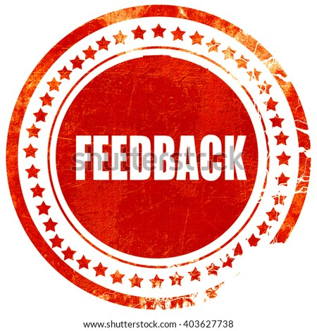 feedback, grunge red rubber stamp on a solid white background - stock photo