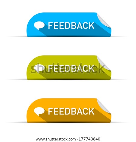 Feedback Icons Set Isolated on White Background