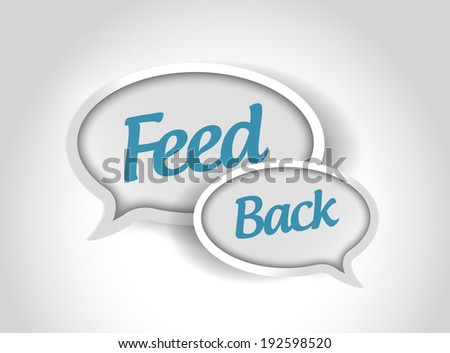 feedback message bubbles illustration design over a white background - stock photo