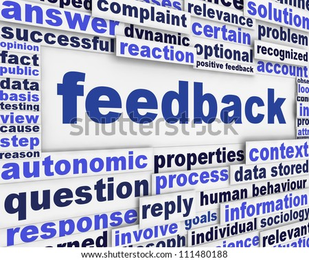 Feedback poster conceptual background. Information Analysis message design