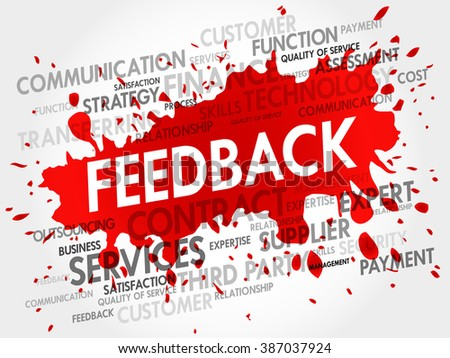 Feedback related items words cloud, business concept - stock photo