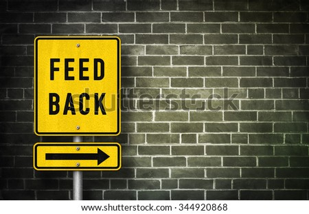 Feedback - road sign illustration