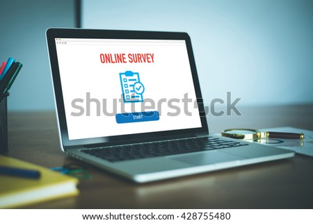 Feedback Satisfaction Survey Business Concept - stock photo