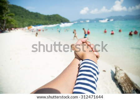 Feel good when sea trip - stock photo