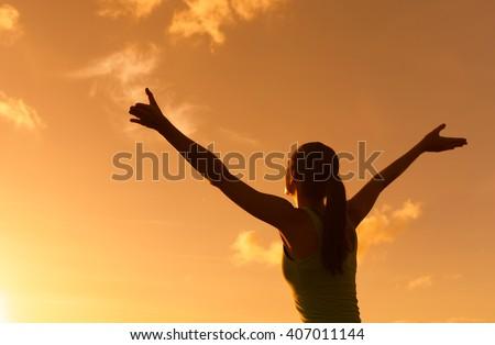Feeling free.  - stock photo
