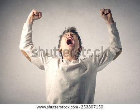 Feeling powerful  - stock photo