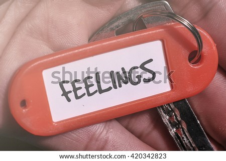 FEELINGS word written on key chain