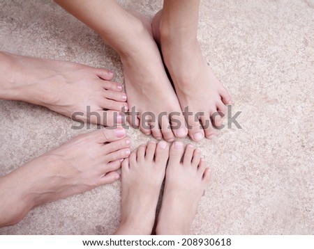 FEET , FOOT - stock photo