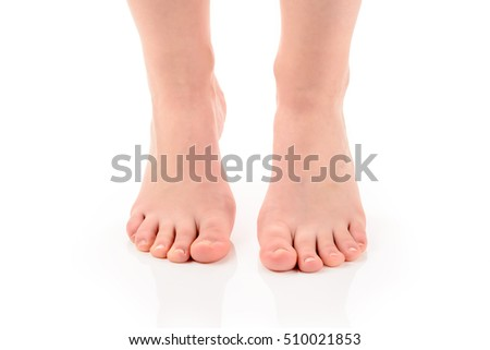 Feet of a young woman