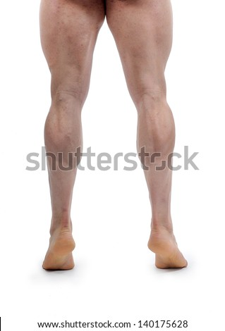 feet of bodybuilder