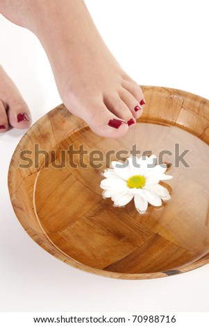 feet spa.pedicure concept