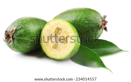 Feijoa isolated on white