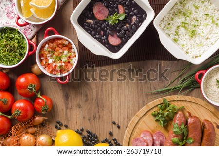 Feijoada, the Brazilian cuisine tradition - stock photo