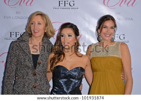 "Felicity Huffman, Eva Longoria Parker and Teri Hatcher  at the Eva Longoria Parker Fragrance Launch Party For ""Eva,"" Beso, Hollywood, CA. 04-27-10"