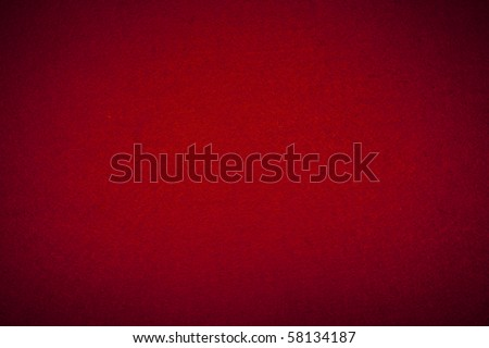 Felt background in red color useful for christmas backgrounds - stock photo