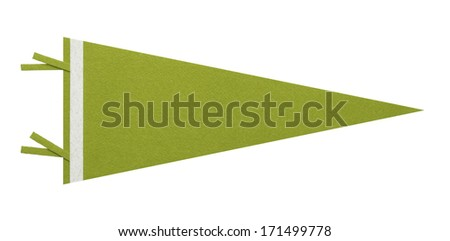 Felt Pennant with Copy Space Isolated on White Background. - stock photo