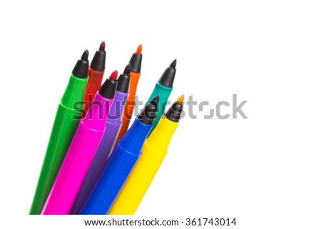 Felt-tip pens isolated