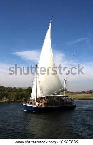 Felucca boat on the Nile River. (Egypt)