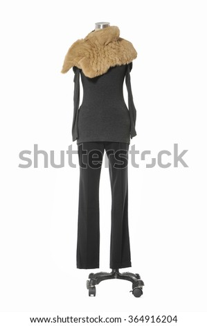 female and trousers isolated over white background   - stock photo