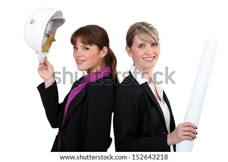 female architects - stock photo