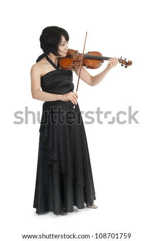 female asian violinist