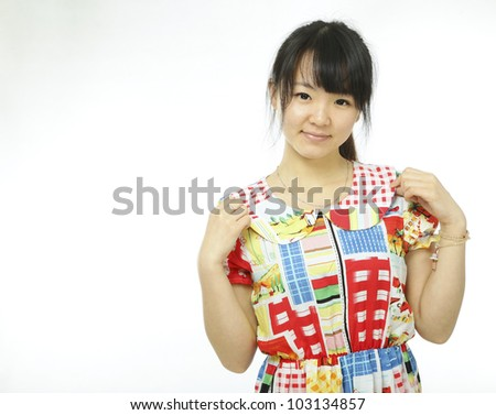 female asian with home dress