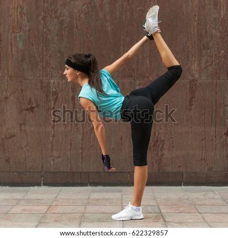 standing split yoga stock images royaltyfree images