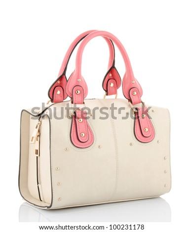 female bag isolated on white - stock photo