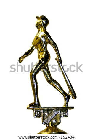 female ball player trophy - stock photo