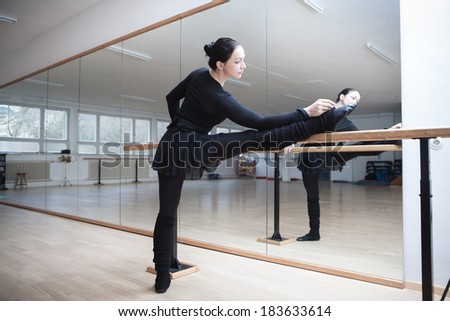 female ballet dancer at a rehearsal