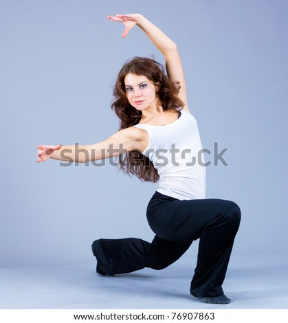 Female Beauty Dancing - stock photo