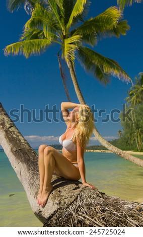 Female Beauty Idyllic Holiday  - stock photo