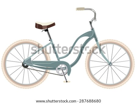 Female bike on a white background