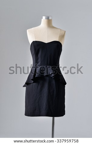 female black dress on dummy