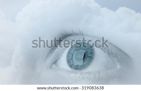 Human Footprints On White Snow Stock Photo 526790809