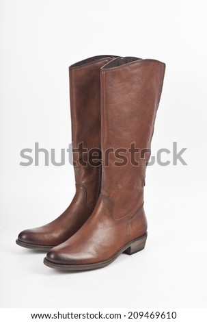 Female boots isolated on white background