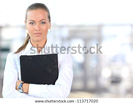 Female Business leader standing - stock photo