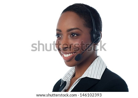 Female call centre executive