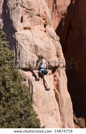 Female Climber - stock photo