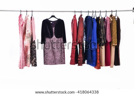 female colorful clothing ,sundress on display