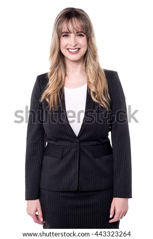 Female corporate executive posing to camera. - stock photo