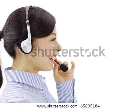 female customer service - stock photo