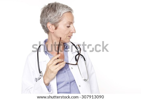 Female doctor smiling and posing for the camera