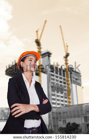 Female engineer - stock photo