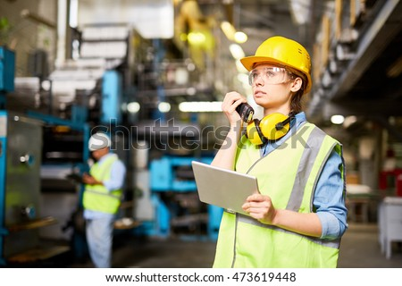 Female engineer at work