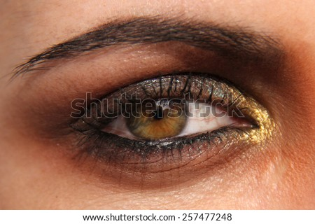 female eyes - stock photo