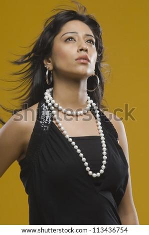 Female fashion model posing - stock photo