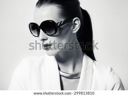 Female fashion portrait.  - stock photo