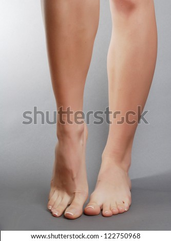female foot - stock photo